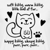 soft kitty, warm kitty, little ball of fur... - Mannen T-shirt