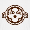 Fixed Gear Fixie Chainring - Men's T-Shirt