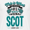 scot world no1 most awesome copy - Men's T-Shirt