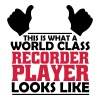 world class recorder player - Men's T-Shirt