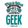 geek world no1 most awesome copy - Men's T-Shirt