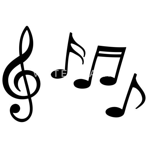 Note Musicali Felici Con Chiave Chiave Di Violino Maglietta Uomo