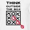 Think outside the box, creative thinking, thoughts are free - Men's T-Shirt