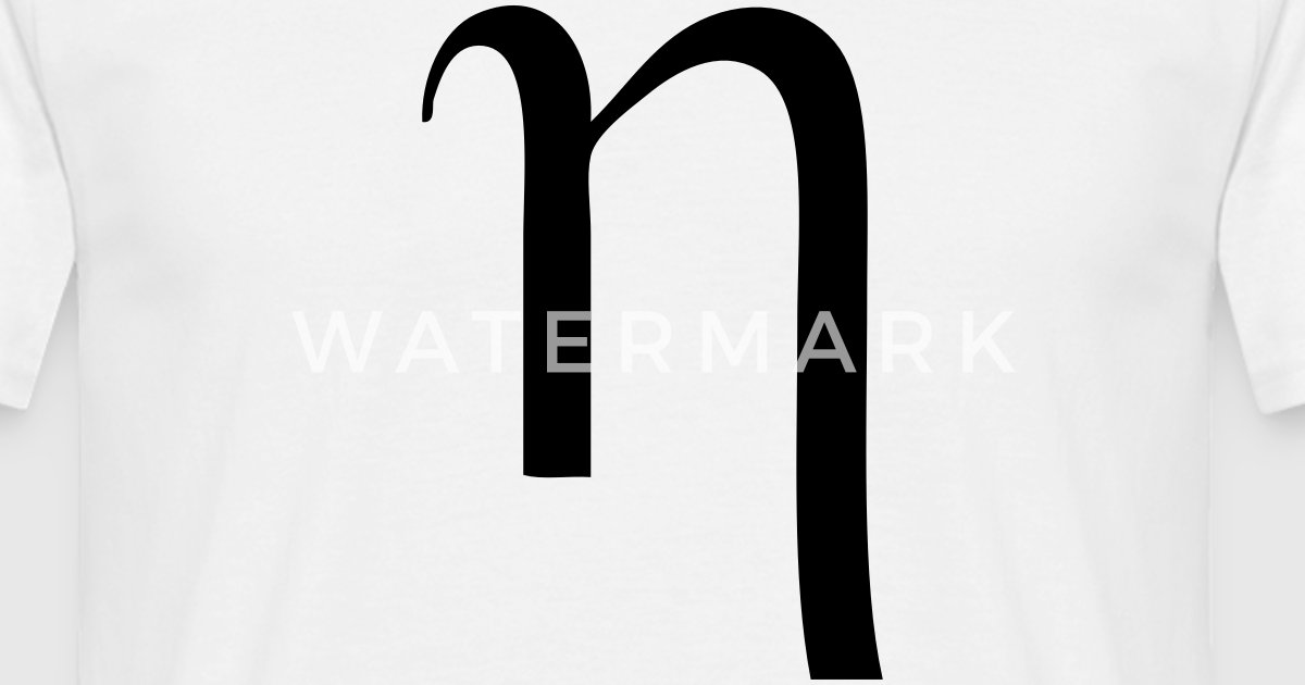 Greek Symbol Eta By Tshirtdesigns Spreadshirt