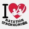 love natation synchronisee coeur2 - T-shirt Homme