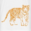 tiger cat lion puma cougar lion cat zoo wild - Mannen T-shirt