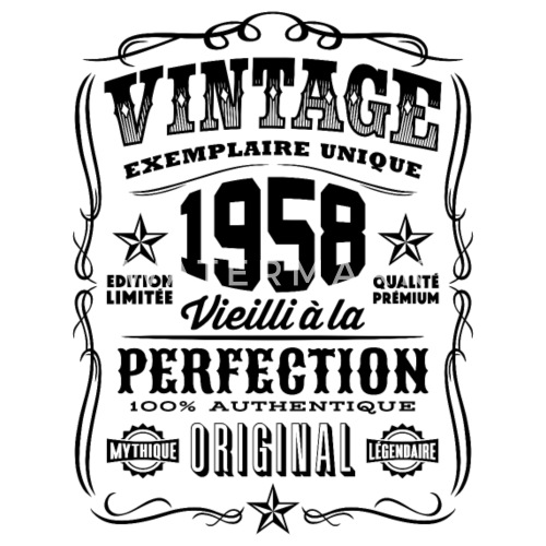 vintage 1958 cadeau anniversaire 60 ans de t shirt of the. Black Bedroom Furniture Sets. Home Design Ideas