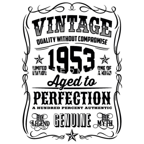 1953 Vintage 65th Birthday Gift 65 Years Old By T Shirt Of The Year