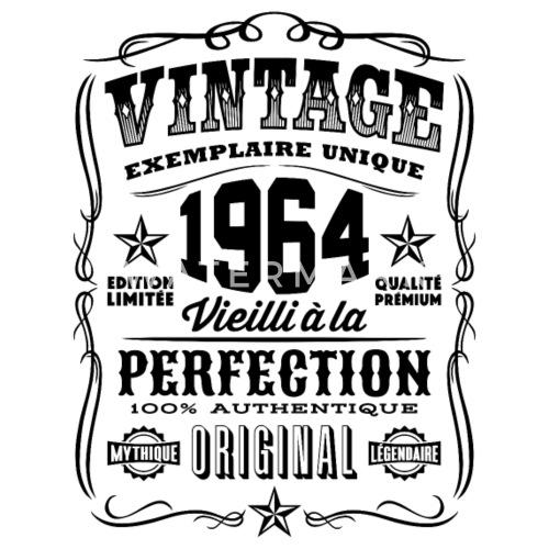 vintage 1964 cadeau anniversaire 55 ans t shirt homme. Black Bedroom Furniture Sets. Home Design Ideas
