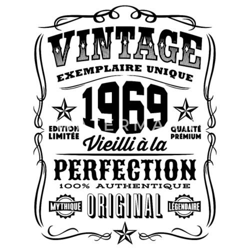 vintage 1969 cadeau anniversaire 50 ans t shirt homme. Black Bedroom Furniture Sets. Home Design Ideas