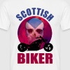 Scottish Biker Skull Chop - Men's T-Shirt