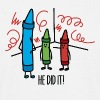 He did it - wasco crayons - Mannen T-shirt