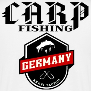 CARPFISHING GERMANIA carpisti Carp Fishing - Maglietta da uomo