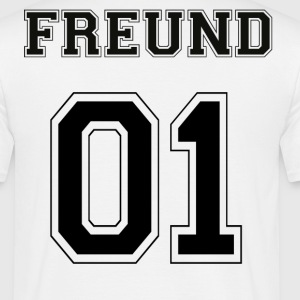 Vriend - Black Edition - Mannen T-shirt