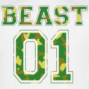 BEAST 01 - Camo Edition - T-skjorte for menn