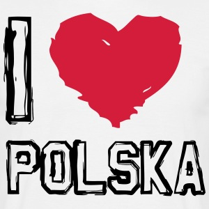 I LOVE POLSKA! - T-skjorte for menn