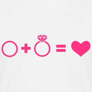 wedding rings - Men's T-Shirt