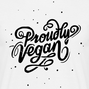 Proudly Vegan Vintage Type - Men's T-Shirt