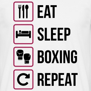 Eat Sleep Boxing Repeat - Maglietta da uomo
