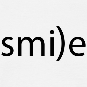 smile emoticon la smile laugh fro hlich positive - Men's T-Shirt