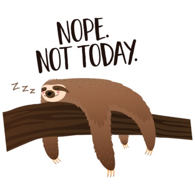 Sleeping Sloth | Nope. Not Today.