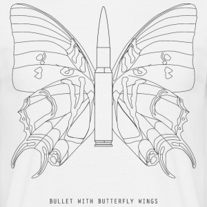 Bullet with butterfly wings - Men's T-Shirt