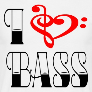 I LOVE BASS - Herre-T-shirt