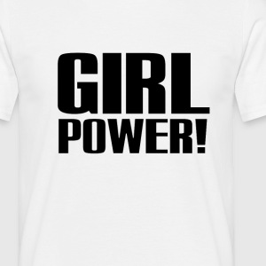Girl Power Logo Black - Camiseta hombre