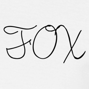 Fox -Handwriting - Mannen T-shirt