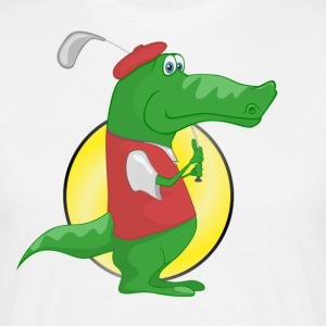krokodille Alligator - Herre-T-shirt