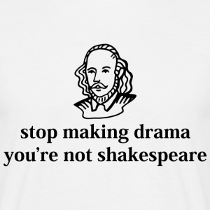 Stop Drama Shakespeare Quote Graphic