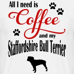 Staffordshire Bull Terrier Coffee - Men's T-Shirt