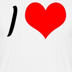 label design tilpasning - i love xxx - Herre-T-shirt