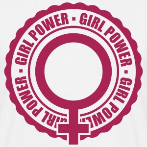 venus symbol stamp round circle girl power text sp