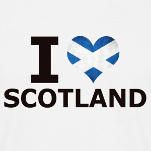 I LOVE SKOTLAND FLAG - Herre-T-shirt
