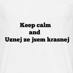 Keep calm and CZ for mens - Men's T-Shirt
