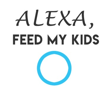 51e0e09a5 Alexa feed my kids Funny tshirt for parents - Men's T-Shirt