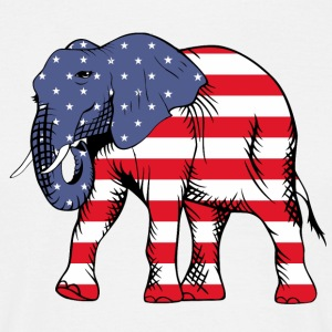 USA Elephant - T-shirt Homme