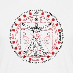 Vitruvian Alchemist Wise Man - Men's T-Shirt