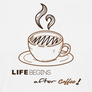 life begins after coffee - T-shirt Homme