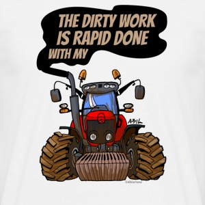 THE DIRTY WORK IS RAPID DONE - Mannen T-shirt