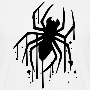 drop graffiti spray stamp spider logo design