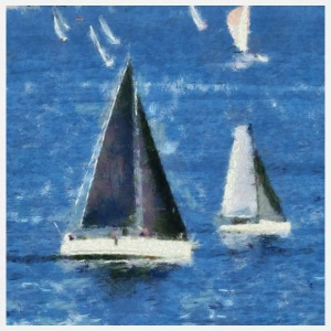 Racing Yachts. - Mannen T-shirt