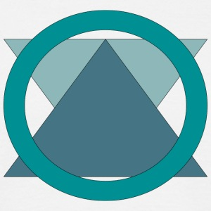 Triangle_in_Circle - T-skjorte for menn