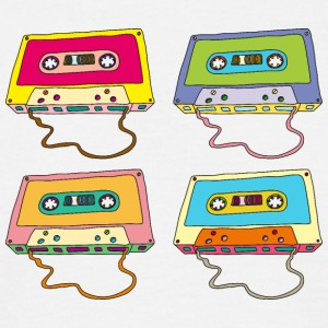 Music cassette compact cassette magnetic tape Retro - Men's T-Shirt