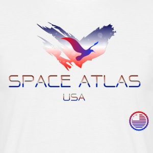 Space Atlas Tee USA - T-shirt herr