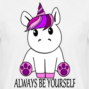 Einhorn Always be yourself - Männer T-Shirt