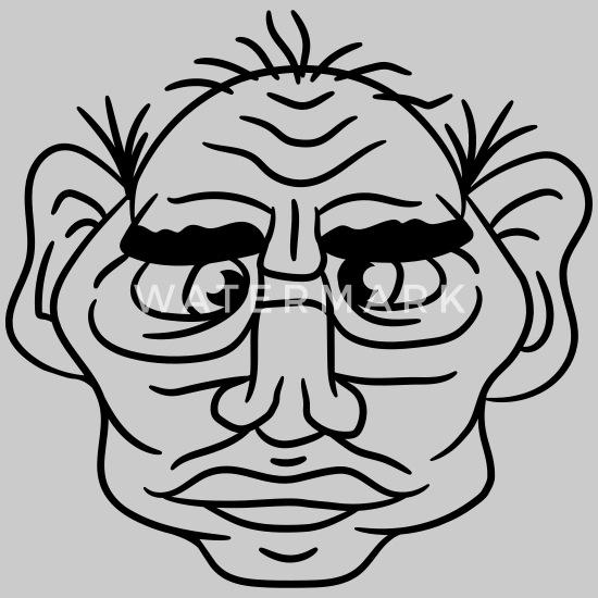 Gesicht mann hässliches Frage an