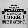 camping is awesome beer makes it awesomer - Men's T-Shirt