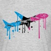 graffiti drops color scratch cracks vintage old st - Men's T-Shirt